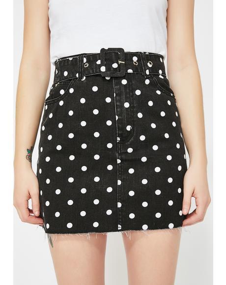 Dark Sugar Town Polka Dot Skirt