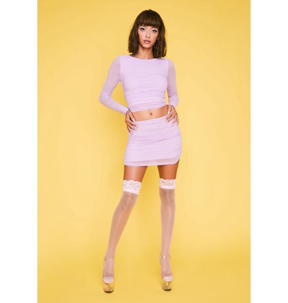 HOROSCOPEZ Keepin' The Peace Mesh Skirt
