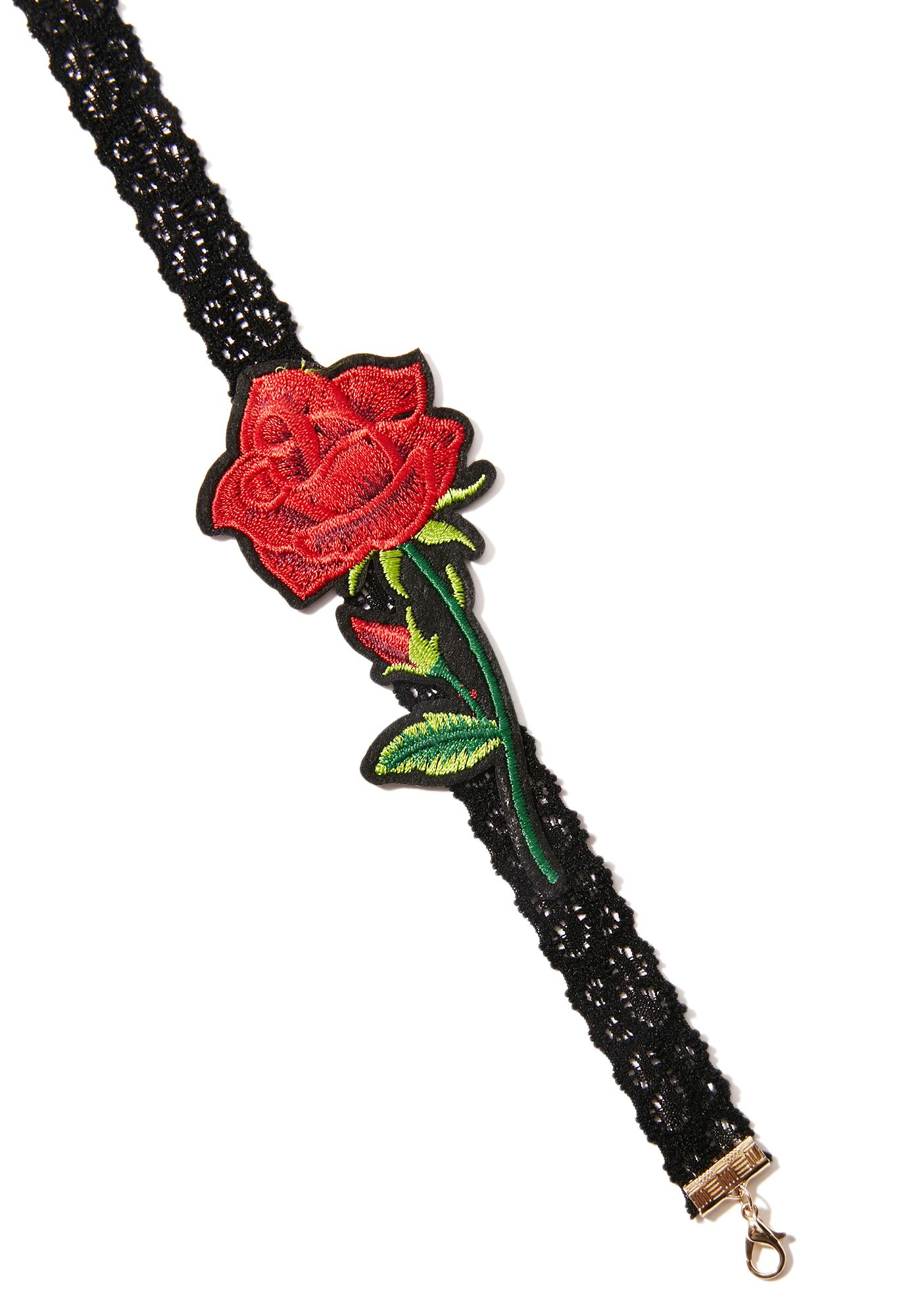 Fairytale Feelz Embroidered Choker