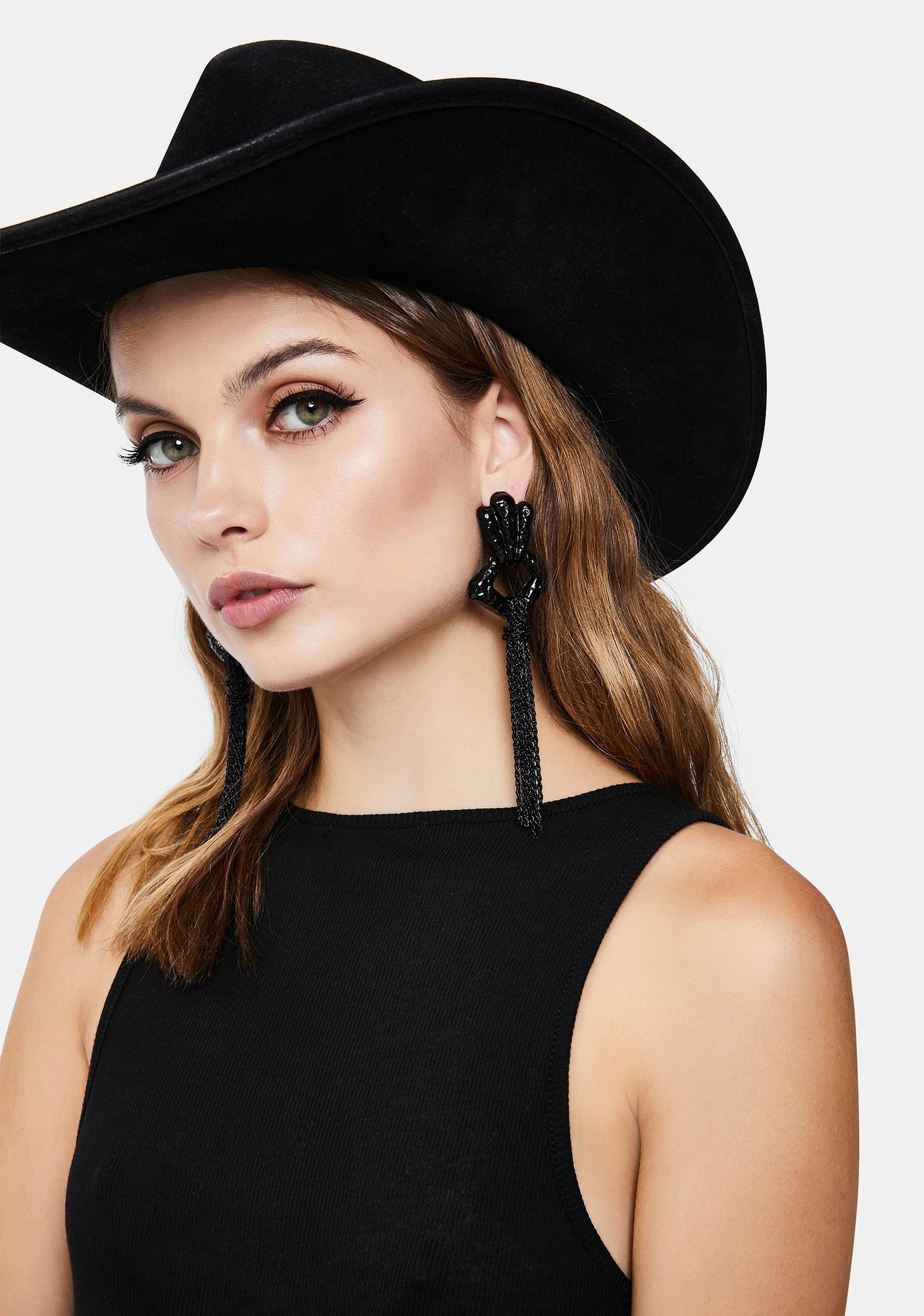 Delicate Knotted Statement Earrings