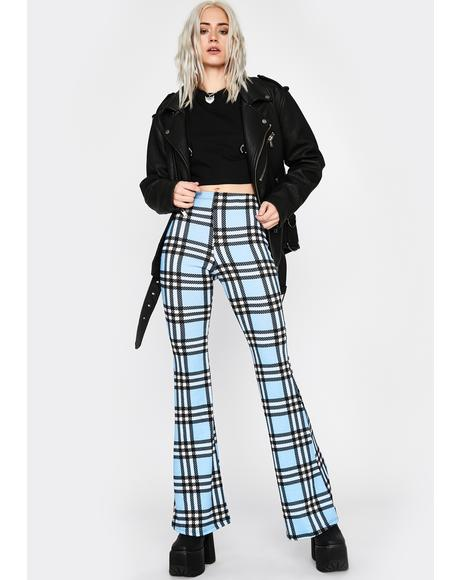Sky Typical Temptations Plaid Flares