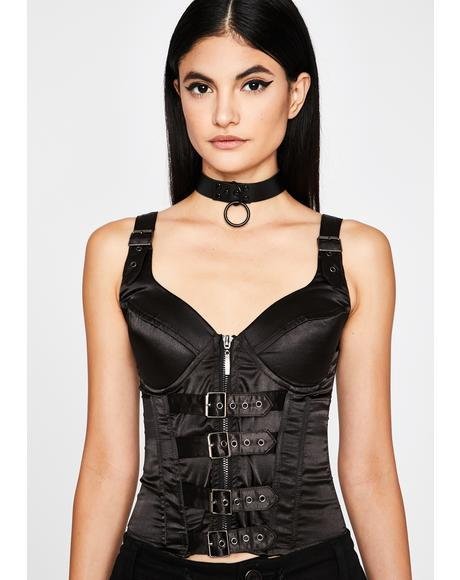 Buckle Down Corset Top
