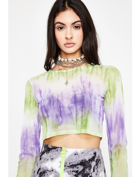 Trippy Temptation Tie Dye Top