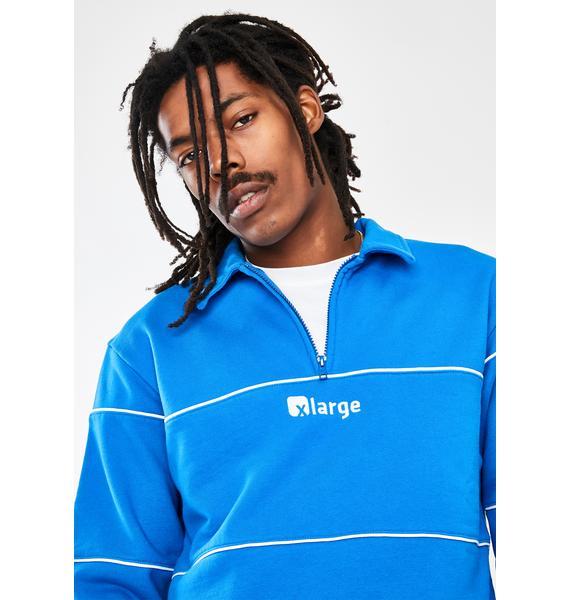 XLARGE Piping Half Zip Sweater
