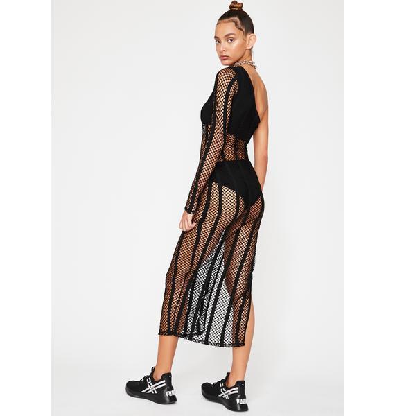 Sundown Fishnet Dress