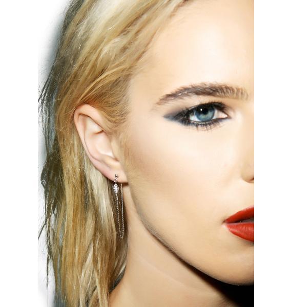 Vanessa Mooney Misty Eyes Diamond Cross Earring Set