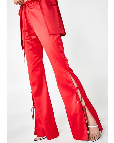 Furea Satin High-Rise Trousers