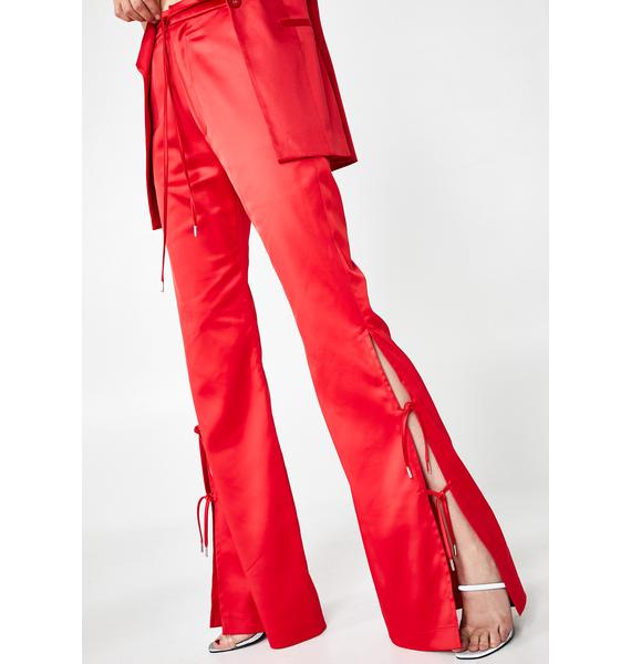 Hanger Furea Satin High-Rise Trousers