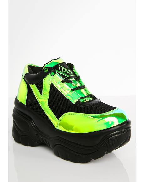 Matrixx Green Platform Sneakers