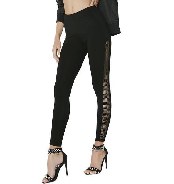 Sheer Genius Mesh Panel Leggings
