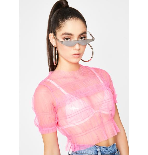 Sprung Out Sheer Top