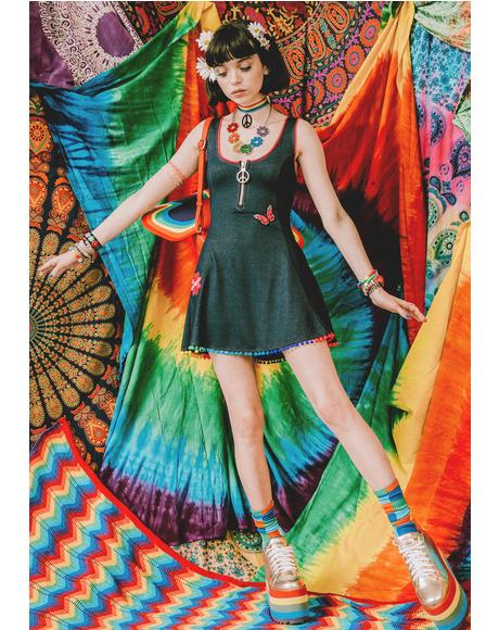 Magic Trip Patched Skater Dress