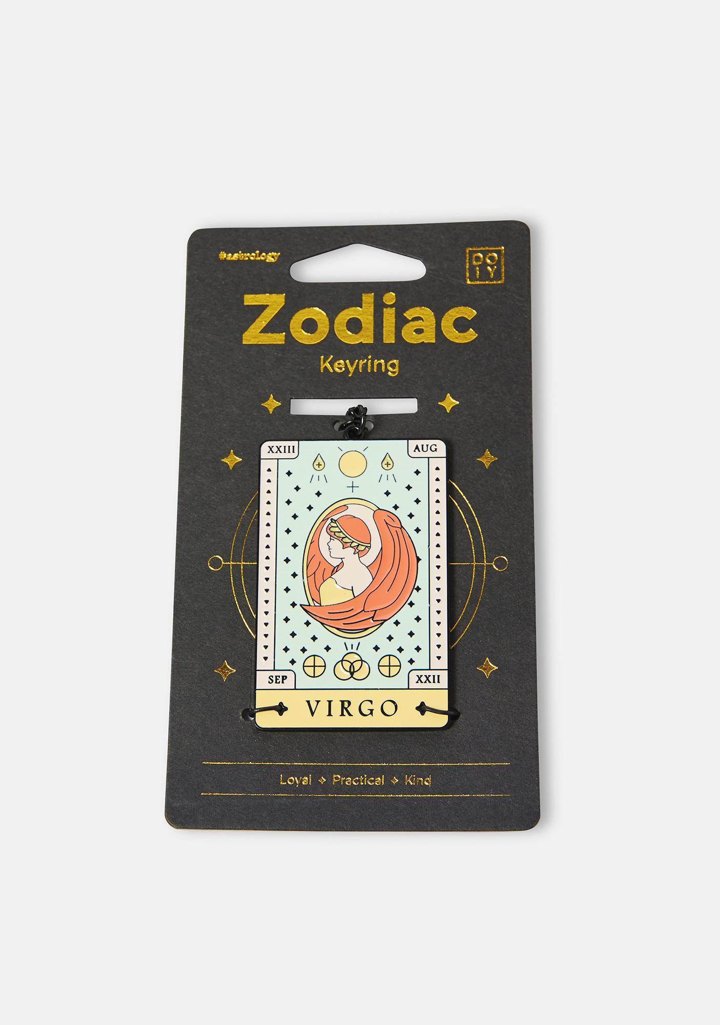 Loyal Virgo Zodiac Keychain