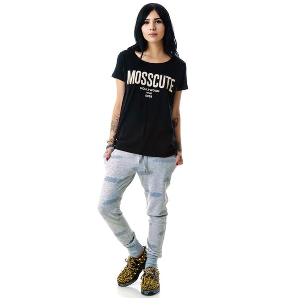Hollywood Made Miss Mosscute Wide Neck Tee