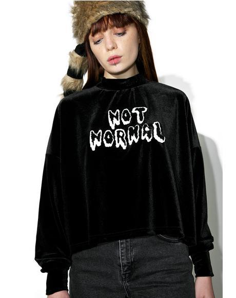 Not Normal Velvet Sweater