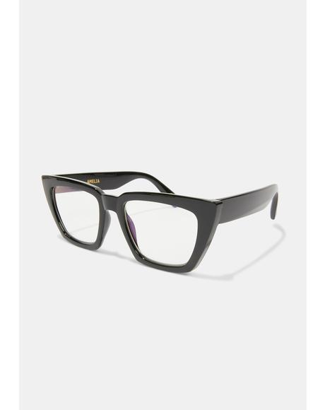 Black Amelia Blue Light Glasses