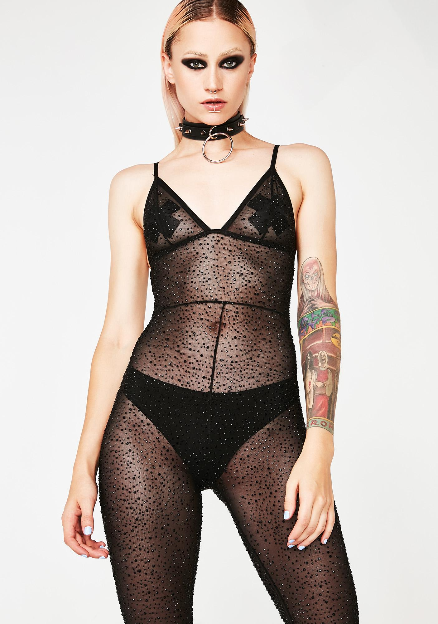 Kiki Riki Madame Fury Sheer Catsuit