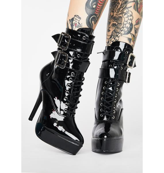 Pleaser Hot Indulgence Heeled Boots