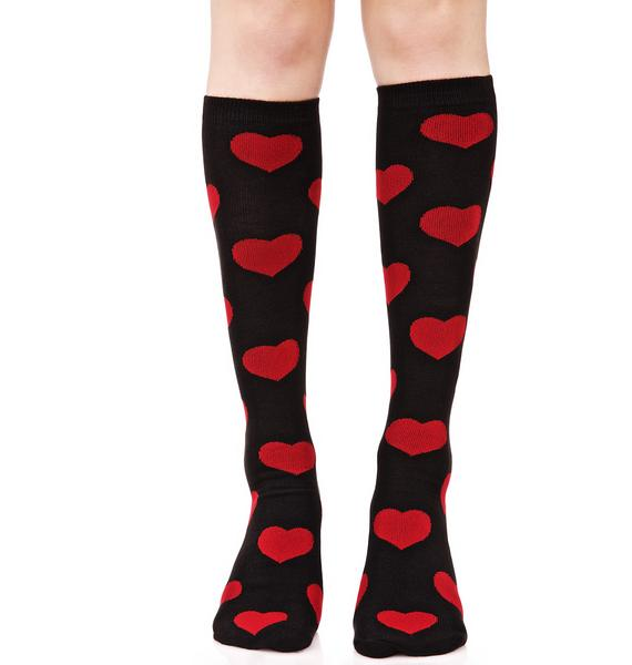 Game of Love Knee Highs