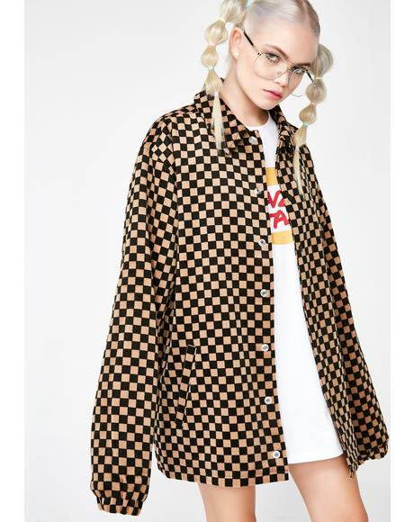 Checkerboard Coach Jacket