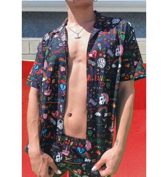 Club Exx Show Ur Pride Button Up Shirt