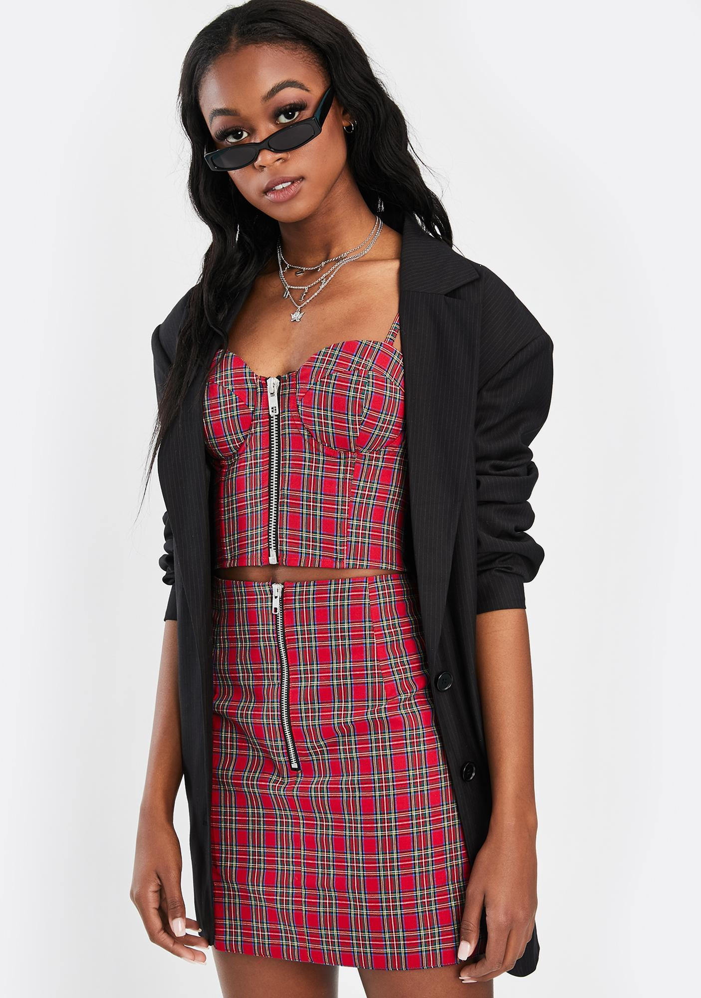 Nana Judy Casa Plaid Mini Skirt