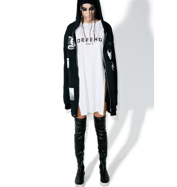 Defend Paris Charlize Split Side Tunic Top