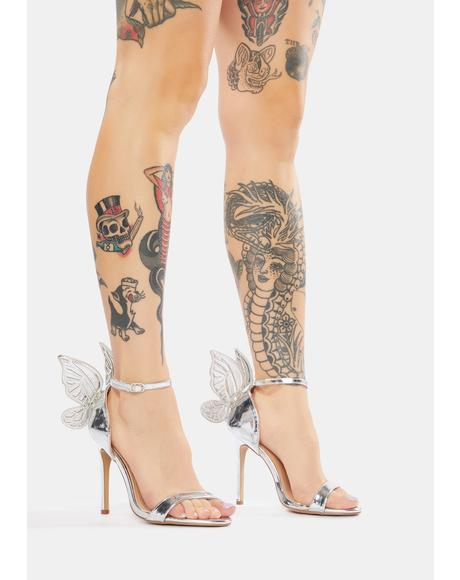 Chrome Pixie Princess Butterfly Heels