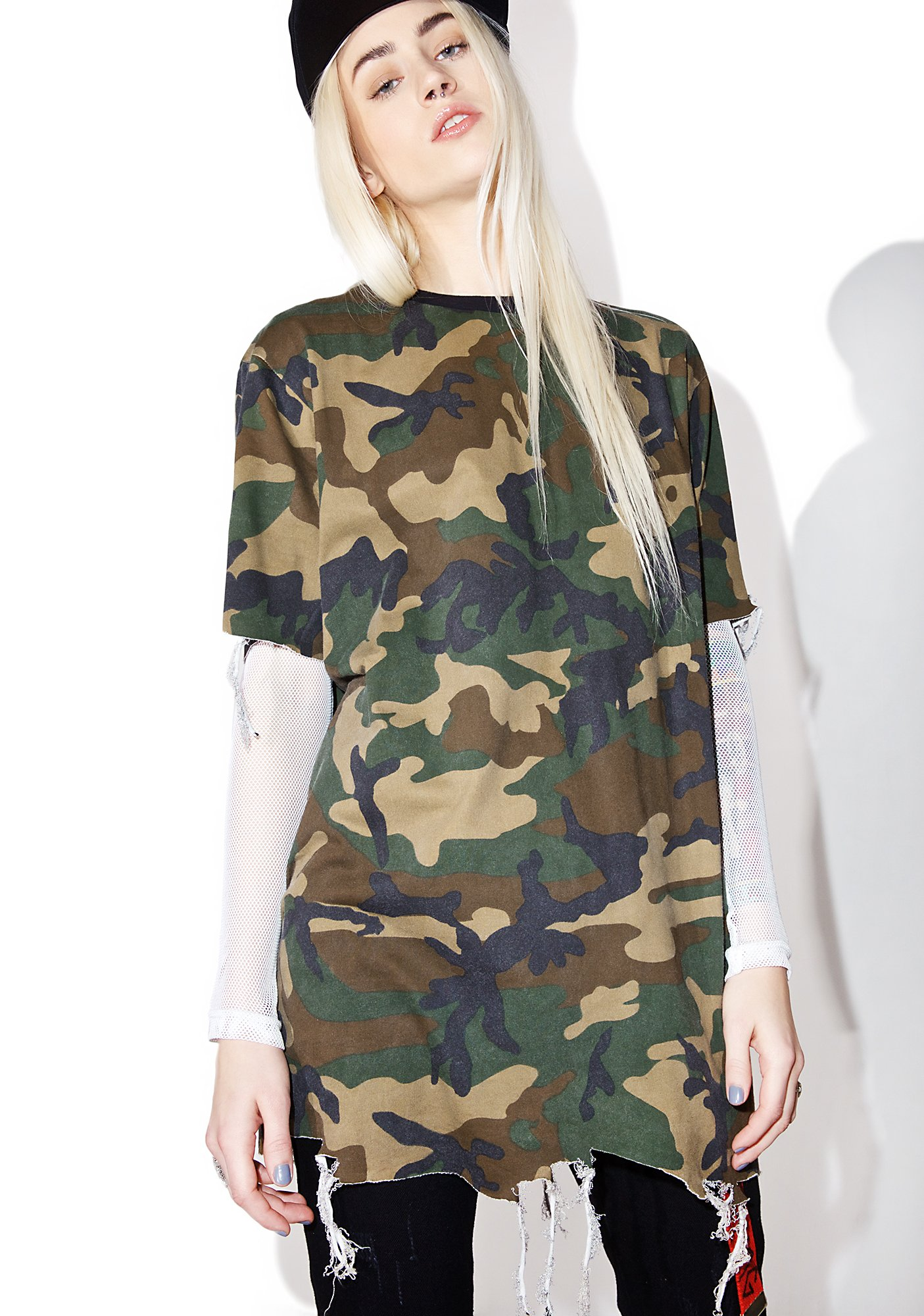 Black Scale Destroyed T-Shirt