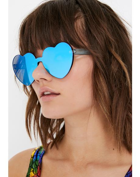 Berry Diet Dew Heart Sunglasses