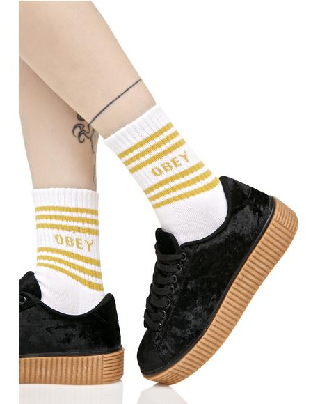 Golden Taylor Crew Socks