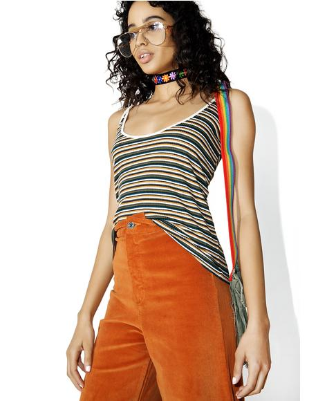 Striped Scoop Cami