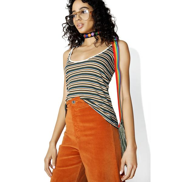 Camp Collection Striped Scoop Cami