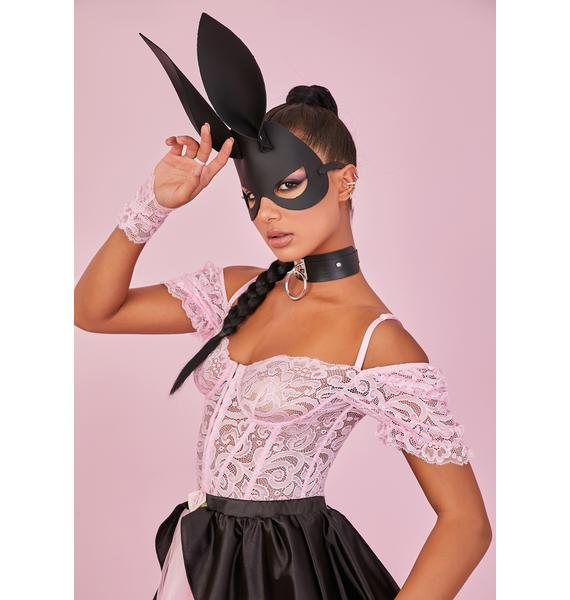 Sugar Thrillz Yours Truly Lace Corset & Gloves