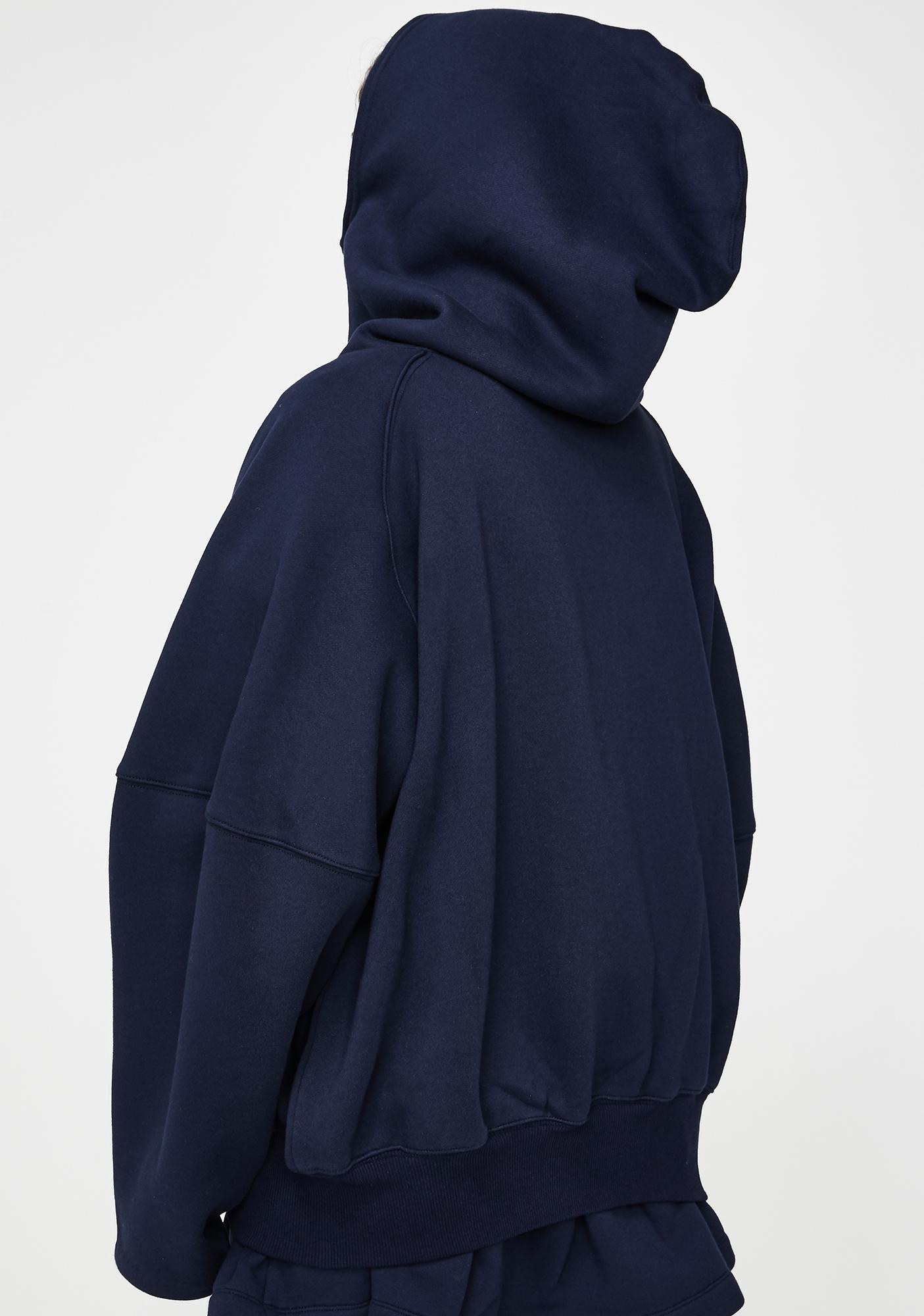 Selkie Navy Brooklyn Zip Up Jacket