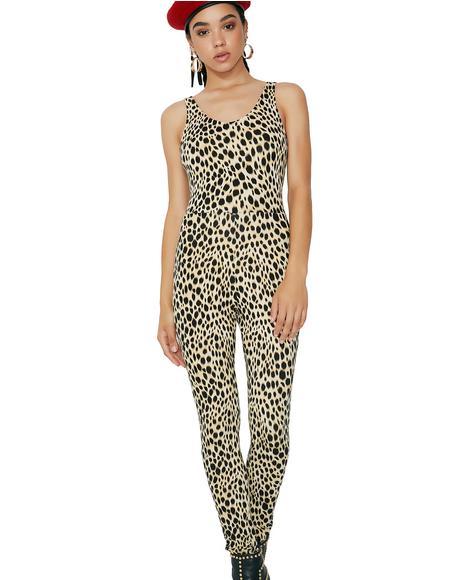 Meow Leopard Unitard
