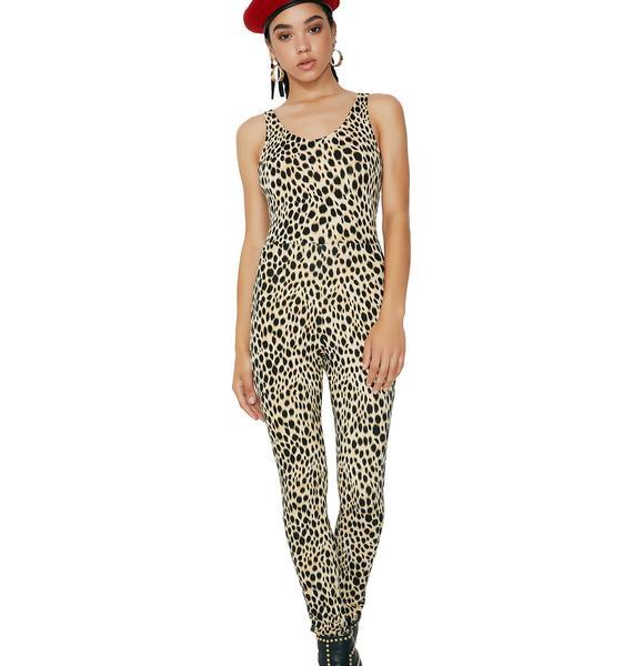 Motel Meow Leopard Unitard