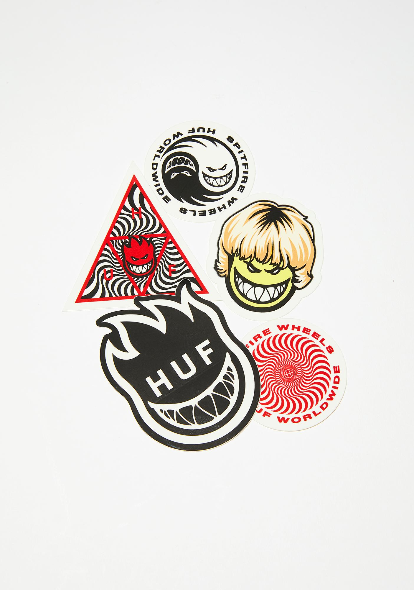 HUF Spitfire Stickers