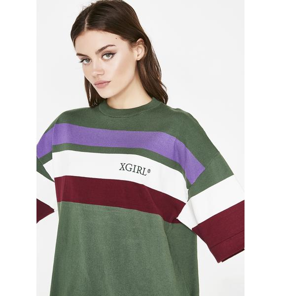 x-Girl Striped Knit Short Sleeve Top