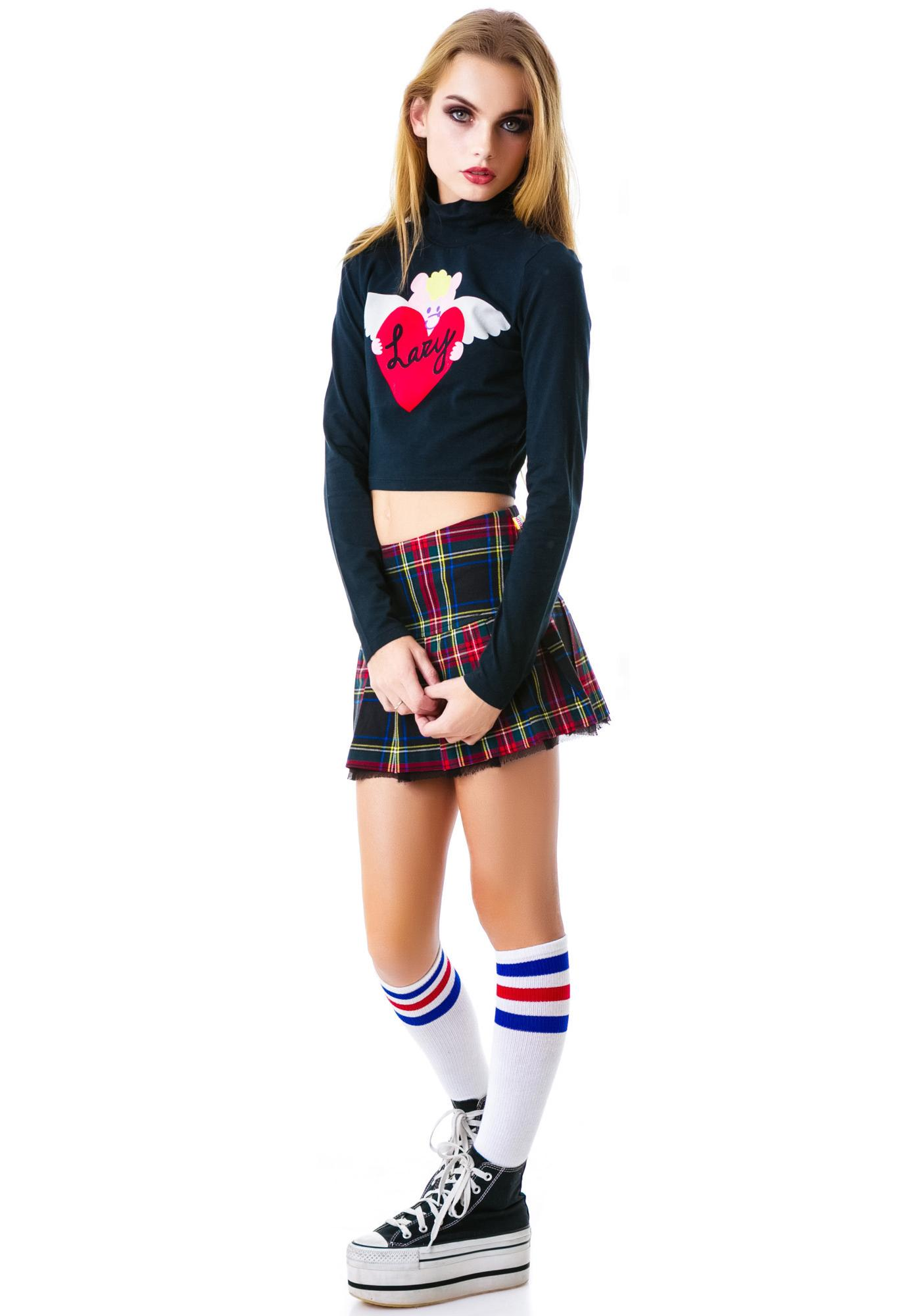 Lazy Oaf Winging it Turtleneck Top