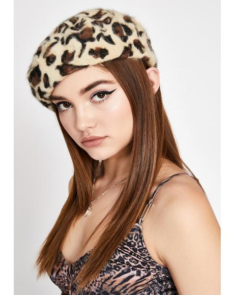 Fiercely Iconic Leopard Beret