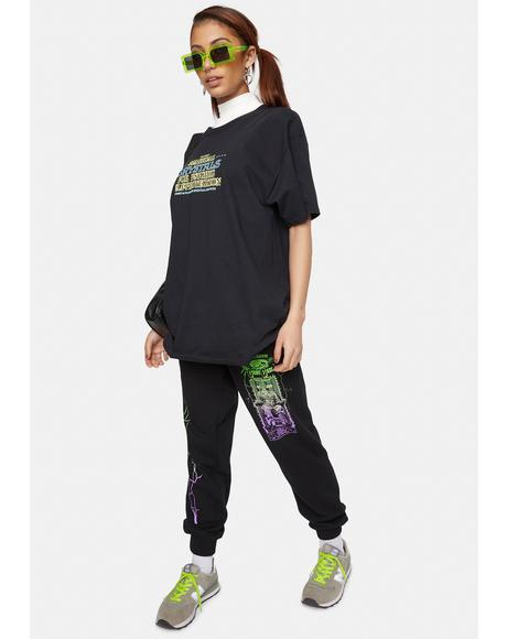 X Playdude Court Case Graphic Sweatpants