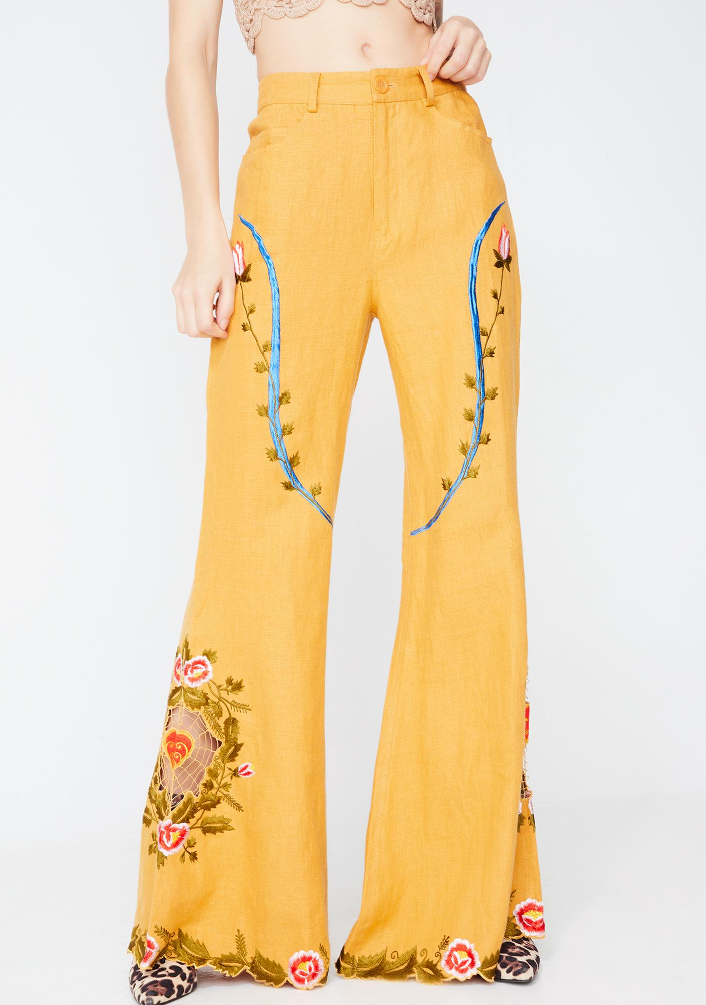 Fillyboo Queen Of Hearts Flared Pants
