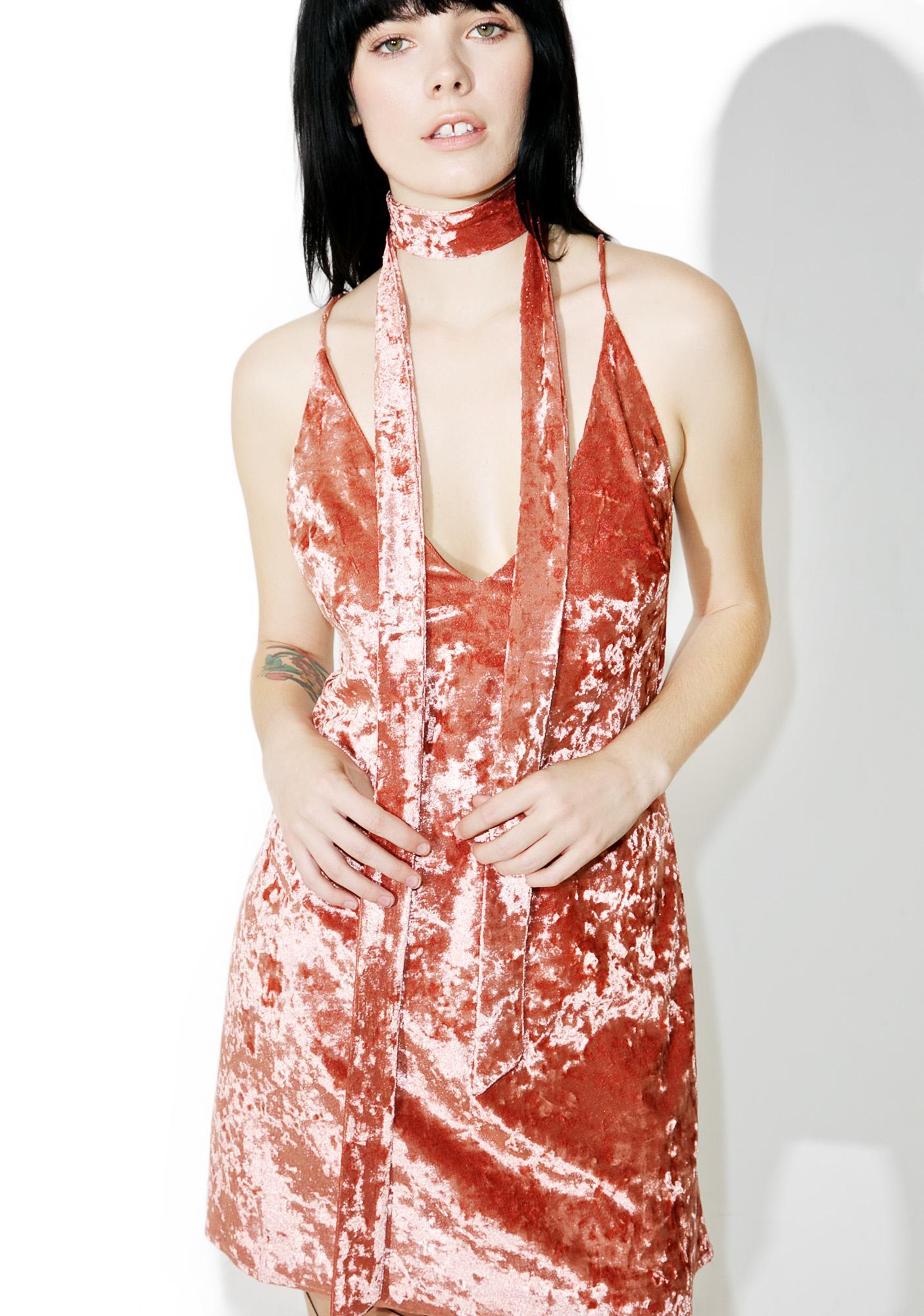 Just A Lil Crushed Velvet Dress
