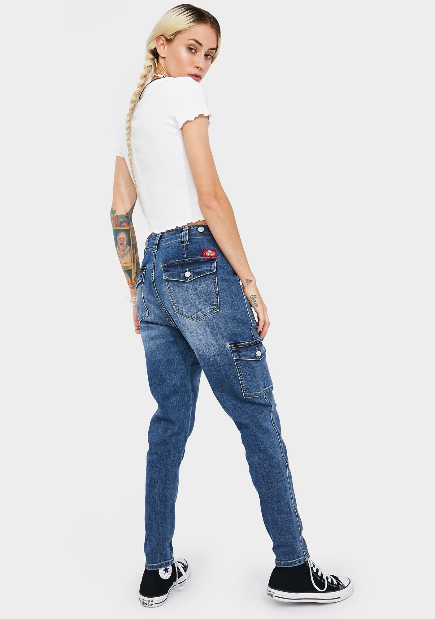 Dickies Girl Utility Denim Cargo Pants