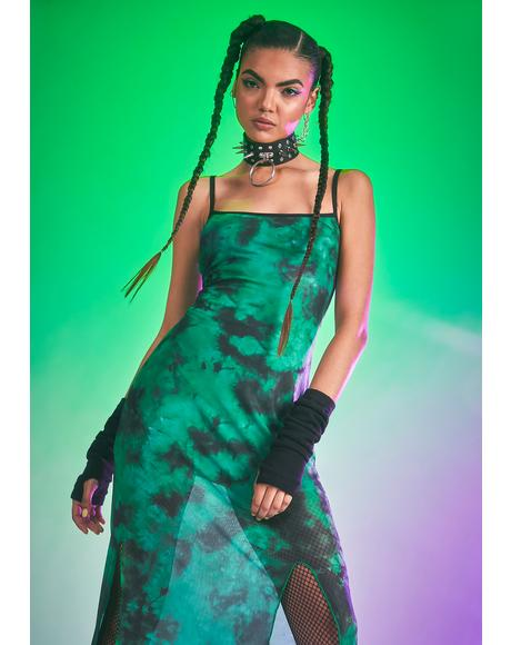 Fierce Femme Tie Dye Maxi Dress