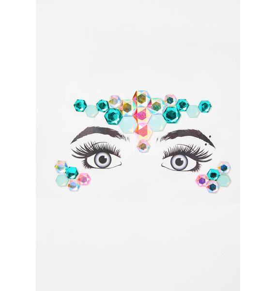 Fractal Fairy Face Gems
