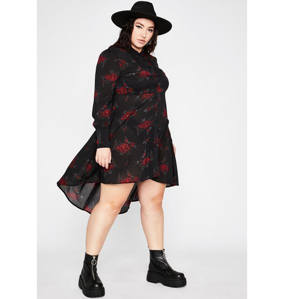 Killstar Plus Pandora Shirt Dress