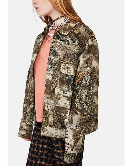 Camo Lincoln Trucker Jacket