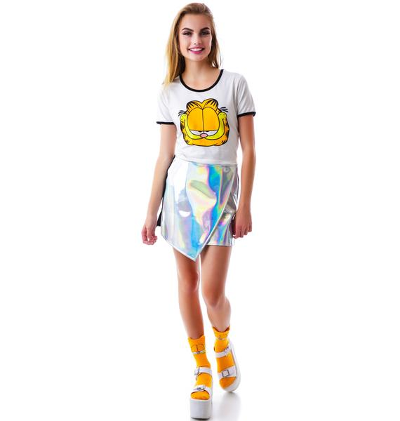 Lazy Oaf x Garfield Cats What I'm Talking About Crop Tee